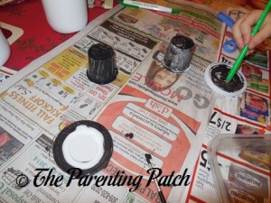 Painting the Lids and K-Cups Black