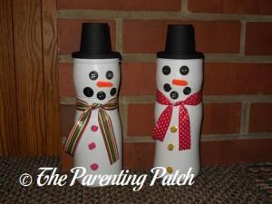 Puff Container Snowmen