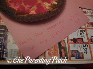 Writing 'You're the Pepperoni in My Pizza'