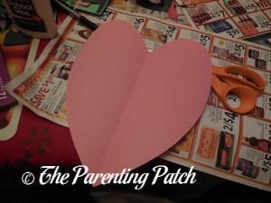 Pink Construction Paper Heart