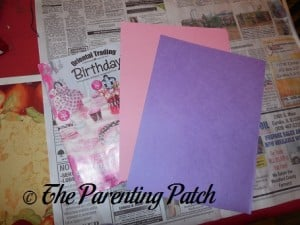 Materials for Valentine's Day 'I'm Falling for You' Handprint Tree Craft