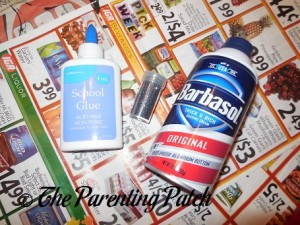 Materials for Puffy Snow Paint Craft