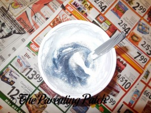 Adding Glitter to the Puffy Snow Paint
