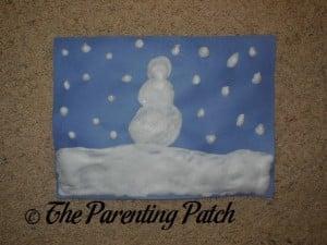 Puffy Snow Paint Craft