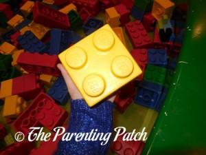 Yellow LEGO Soft Brick at LEGOLAND Discovery Center Westchester