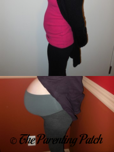 Heather Pregnant 4 Weeks 5 Days and 37 Weeks 2 Days