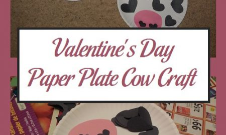 Valentine's Day Paper Plate Cow Craft