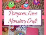 Pompom Love Monsters Craft