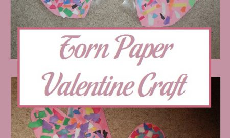 Torn Paper Valentine Craft