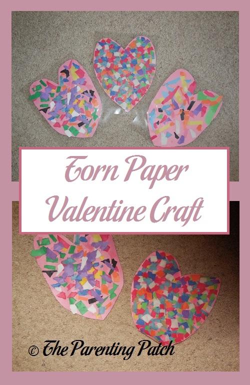 Torn Paper Valentine Craft