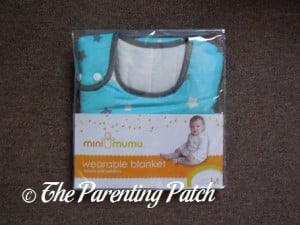 Front of Mini Mumu Wearable Blanket in Package