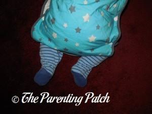 Toddler in Mini Mumu Wearable Blanket 4
