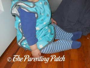 Toddler in Mini Mumu Wearable Blanket 5