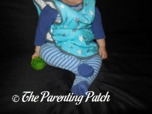 Toddler in Mini Mumu Wearable Blanket 6