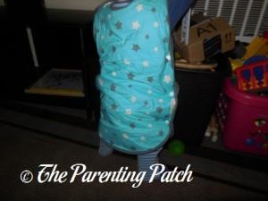 Toddler in Mini Mumu Wearable Blanket 7