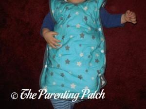 Toddler in Mini Mumu Wearable Blanket 1
