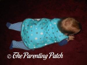 Toddler in Mini Mumu Wearable Blanket 2