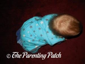 Toddler in Mini Mumu Wearable Blanket 3