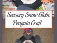 Sensory Snow Globe Penguin Craft