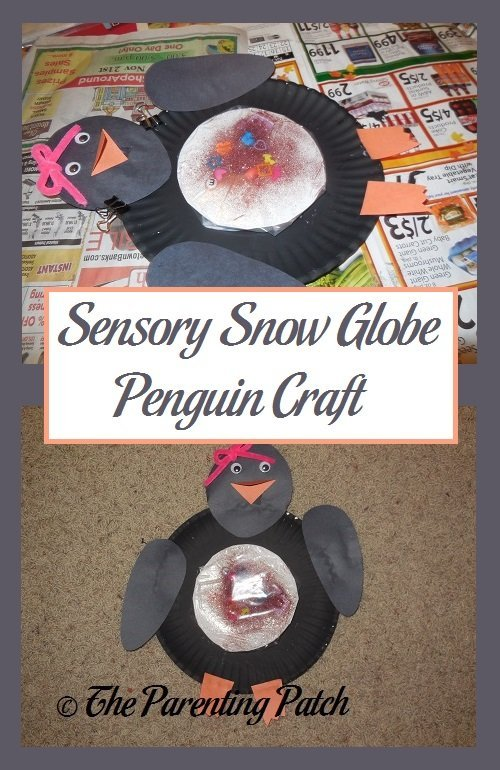 Sensory Snow Globe Penguin Craft