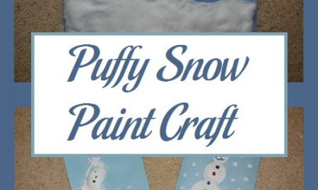 Puffy Snow Paint Craft
