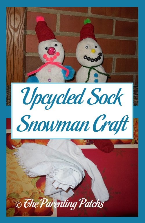 Upcycled Sock Snowman Craft