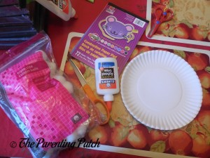 Materials for Pot of Gold Rainbow Paper Plate Craft