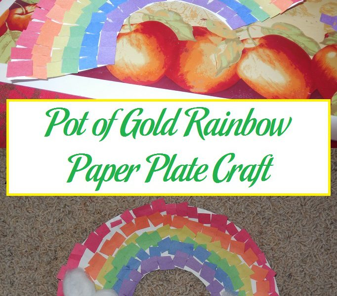 paper plate rainbow craft pot of gold rainbow paper plate craft parenting patch 5113