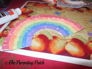 Paper Square Rainbow for the Pot of Gold Rainbow Paper Plate Craft