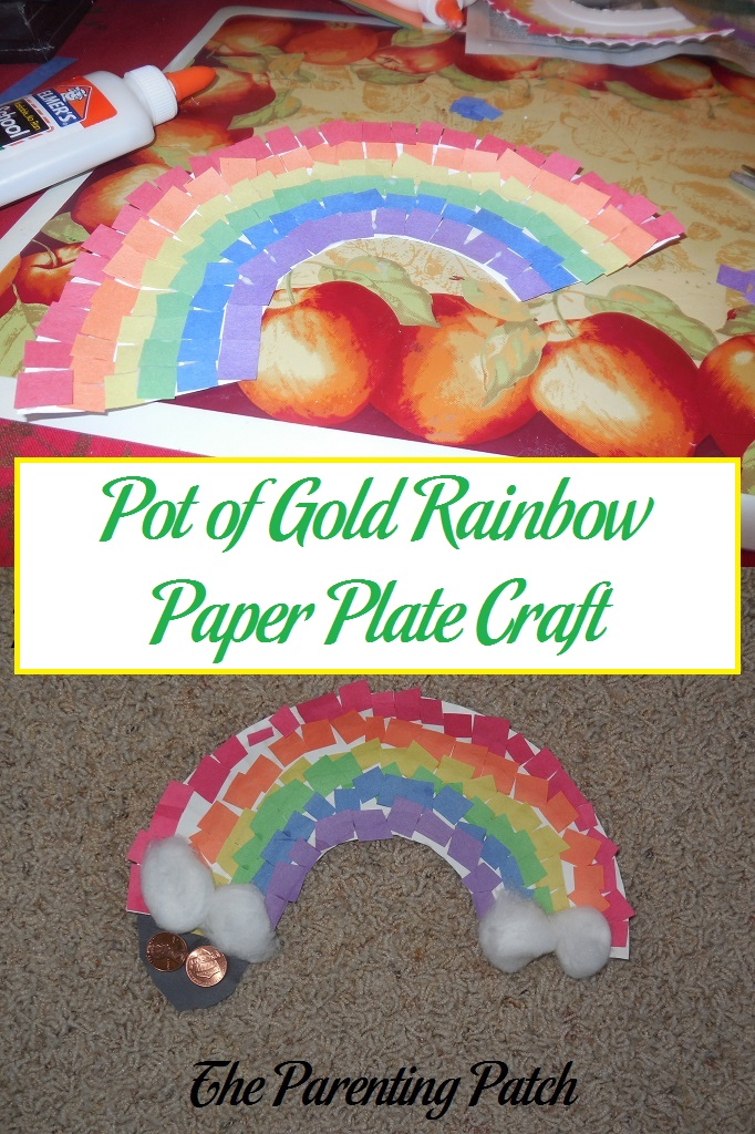 Pot of Gold Rainbow Paper Plate Craft