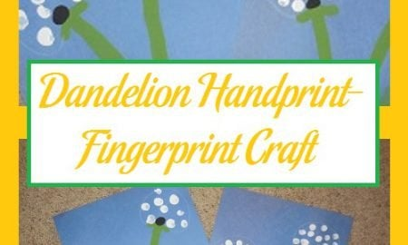 Dandelion Handprint-Fingerprint Craft