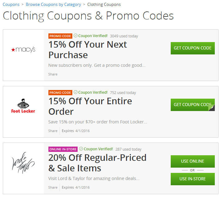 0052257af2a72 Clothing Coupons from Groupon Coupons
