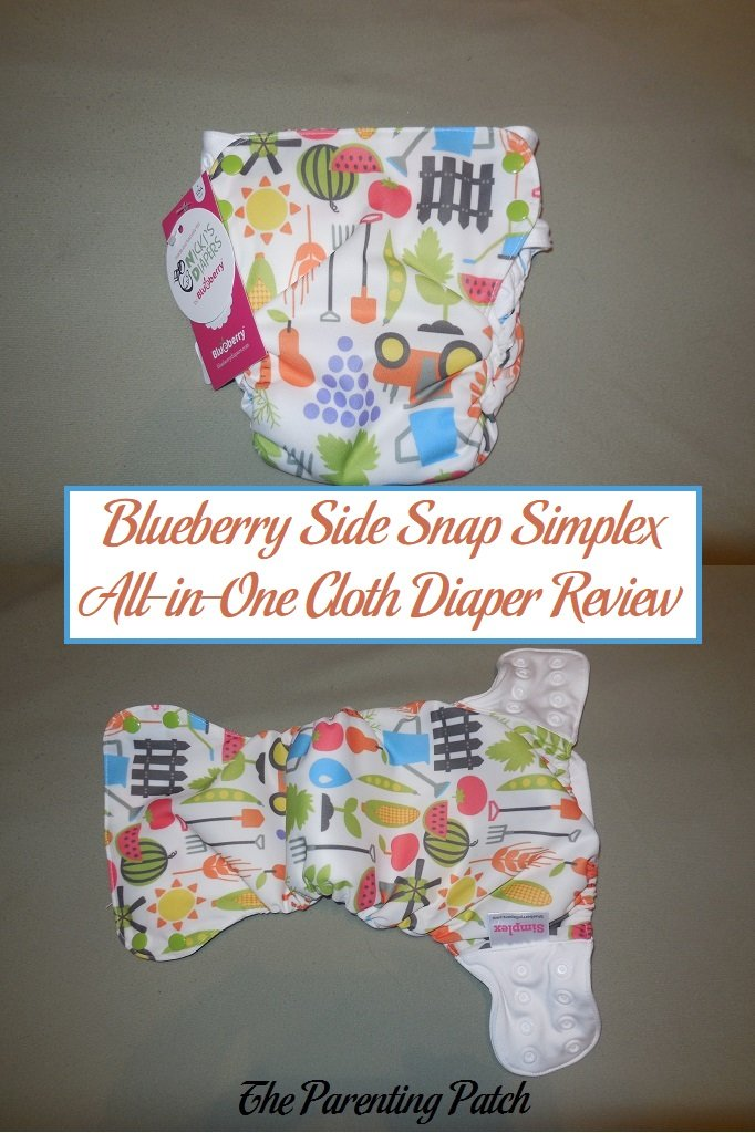 Blueberry Side Snap Simplex All-in-One Cloth Diaper Review