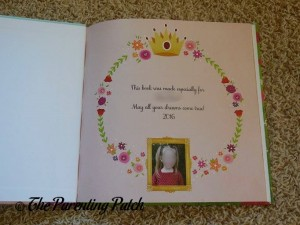 Dedication of 'Princess' Personalized Book from I See Me!
