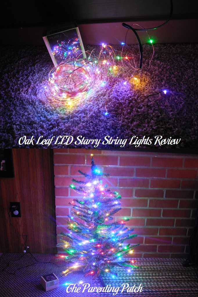 Oak Leaf LED Starry String Lights Review & Oak Leaf LED Starry String Lights Review | Parenting Patch
