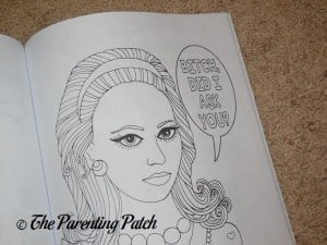 Uncolored Page of Bitches with Attitude: Swear Word Coloring Book (Volume 1) 2