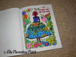 Colored Page of Bitches with Attitude: Swear Word Coloring Book (Volume 1) 1