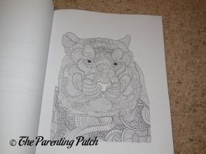 Uncolored Page of Animals Adult Coloring Book 1