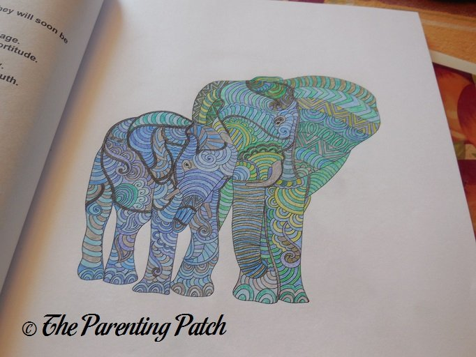 Colored Page Of Animals Adult Coloring Book 2