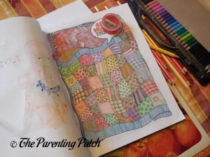 Picture Colored with US Art Supply Watercolor Pencils 1