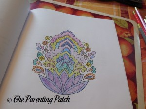 Colored Page of Stress Relieving Adult Coloring Book 1