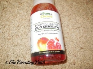 Front of Paw Choice Foaming Mousse Dog Shampoo