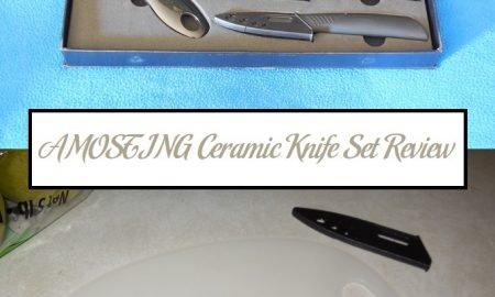 AMOSTING Ceramic Knife Set Review