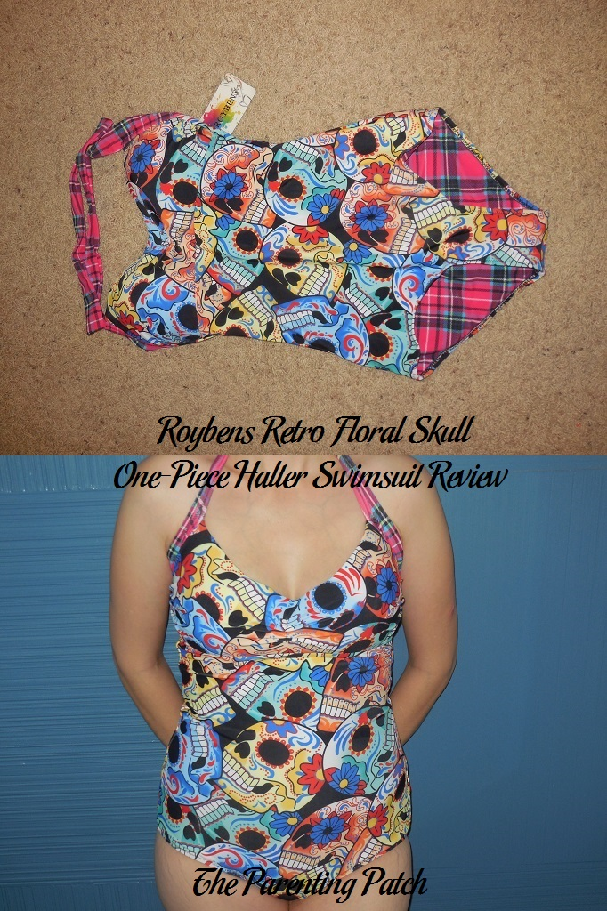 Roybens Retro Floral Skull One-Piece Halter Swimsuit Review
