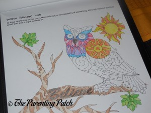 Coloring a Page in Life in Coloring Life Lessons Adult Coloring Book Kit
