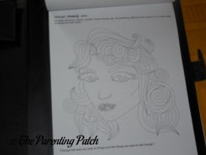 Uncolored Page in Life in Coloring Life Lessons Adult Coloring Book Kit 3