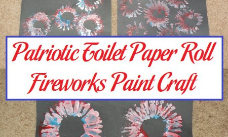 Patriotic Toilet Paper Roll Fireworks Paint Craft