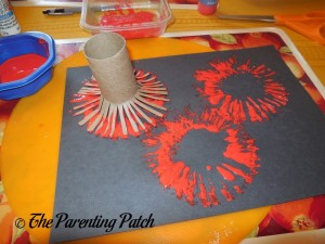 Stamping Red Fireworks