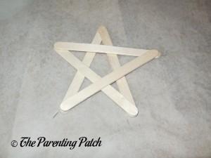 Wooden Craft Stick Star Made with Ohuhu Hot Glue Gun