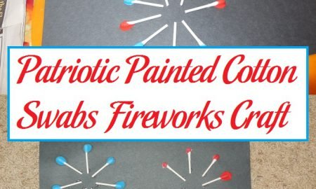 Patriotic Painted Cotton Swabs Fireworks Craft